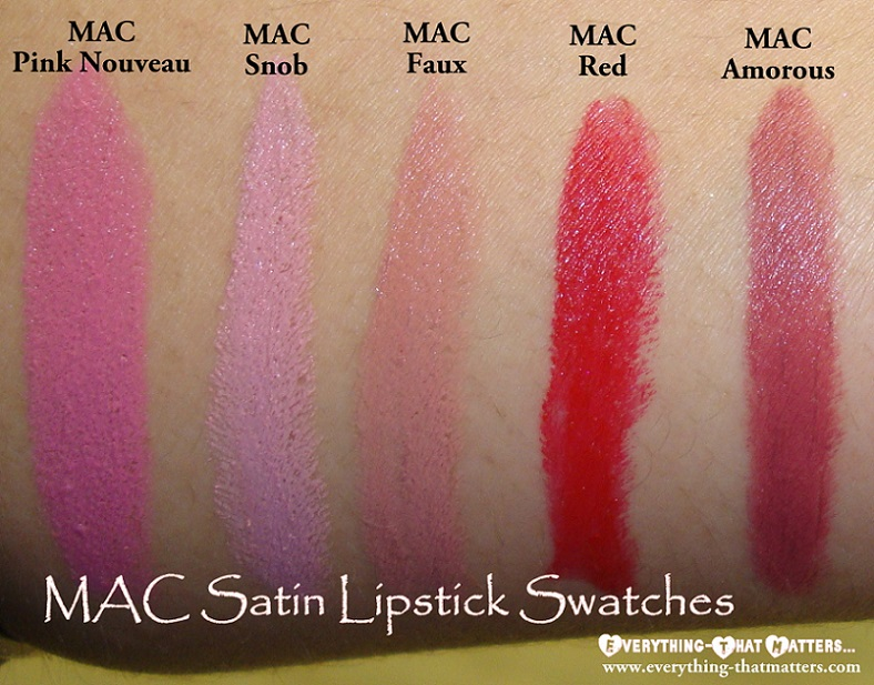 MAC Satin Lipstick Swatches | Everything-That Matters