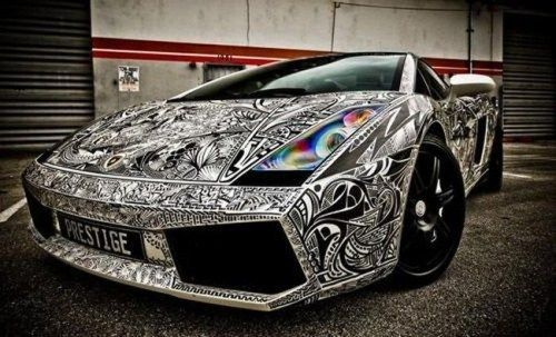 pics can speak lamborghini completely covered with tattoos. Black Bedroom Furniture Sets. Home Design Ideas