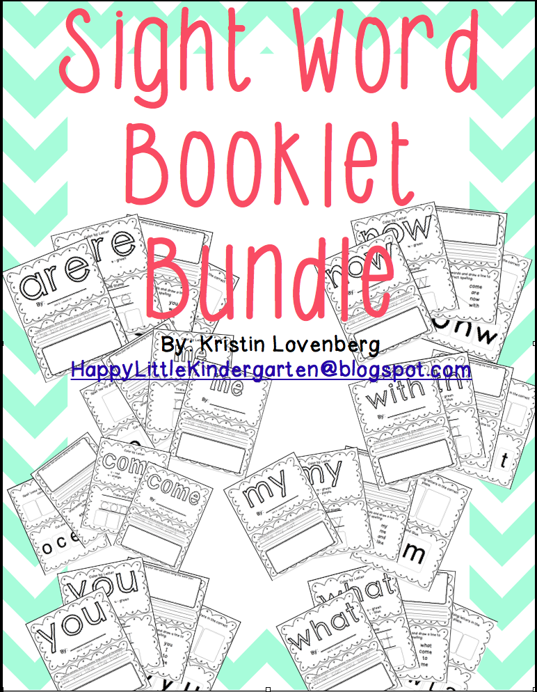 http://www.teacherspayteachers.com/Product/Kindergarten-Sight-Word-Booklet-Bundle-1073182