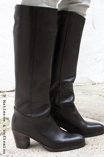 Bottes noires Atelier do Sapato