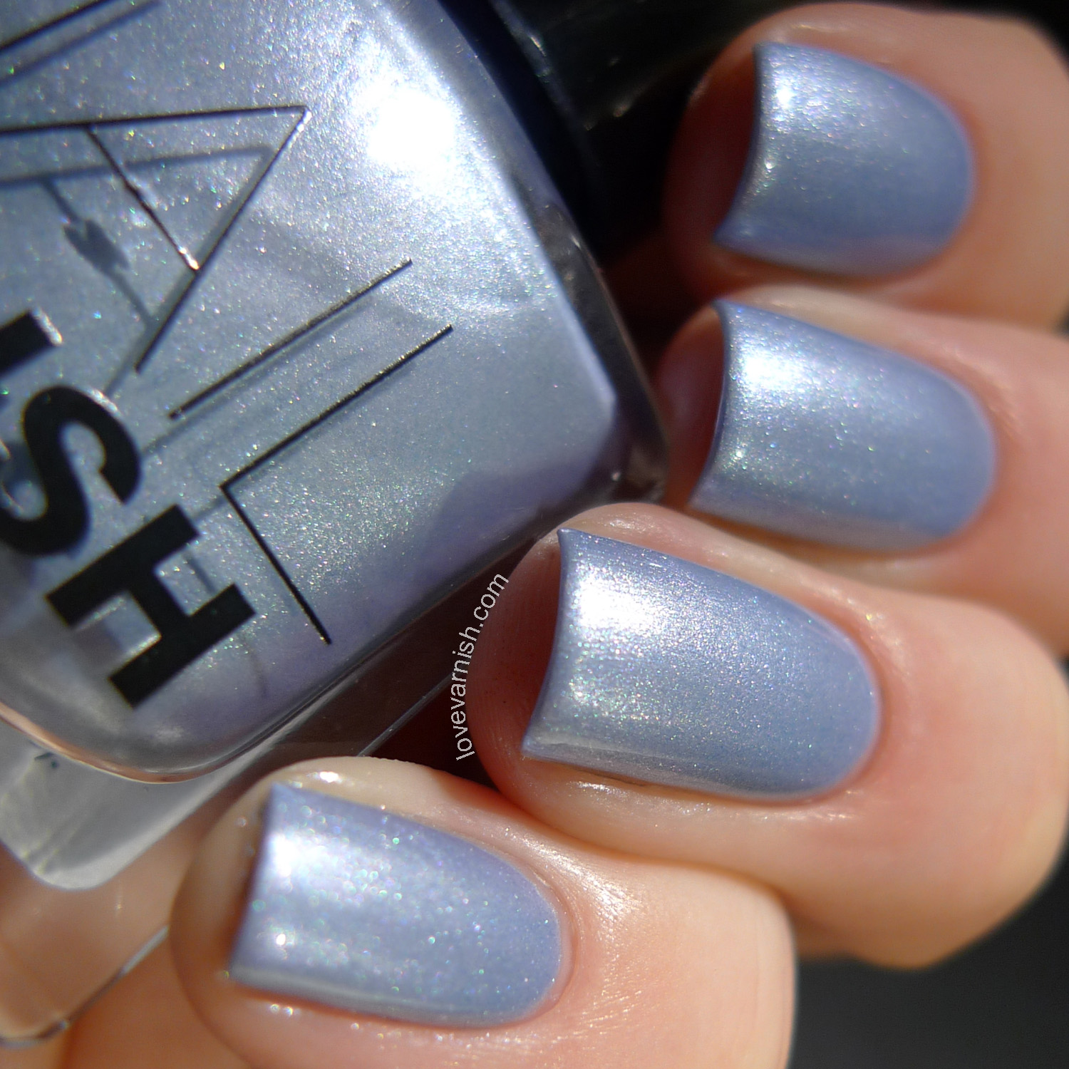 H&M Ice Ice Baby blue foil metallic
