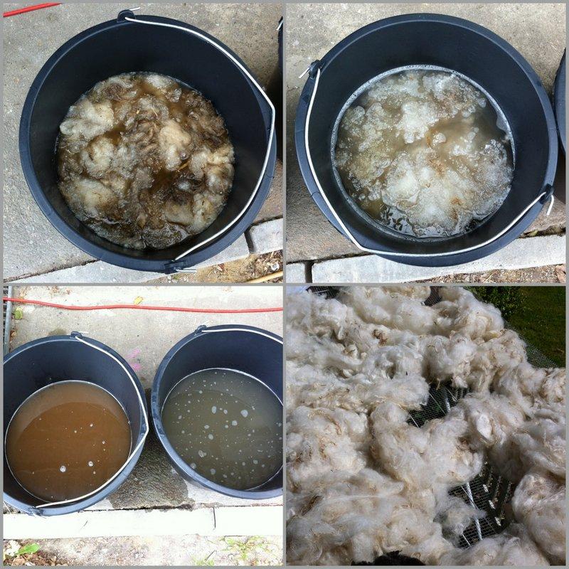 vask af råuld