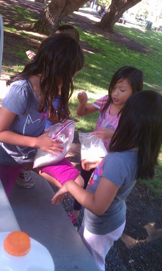 anqischool-Ice cream in a abg at the park