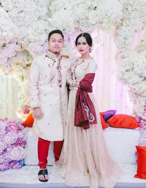 Foto Malam Resepsi Marsha Milan Londoh & Suami