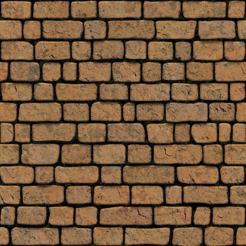 Red Stone Wall Tiled  Maps Seamless Stone Road Texture