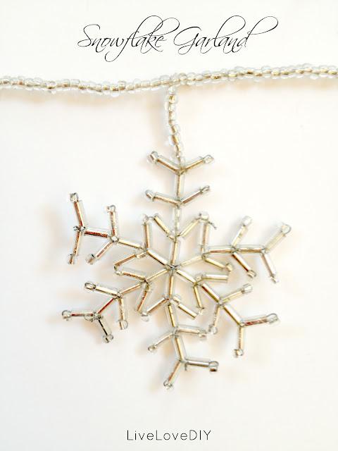 how to make snowflake garland