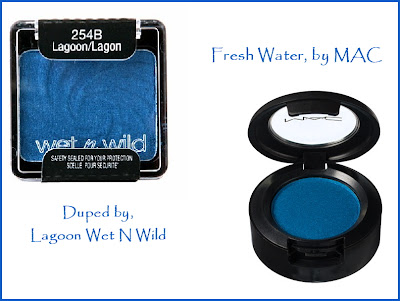 Macs freshe water dupe by Wet n Wild Lagoon 254b, by Barbie's Beauty Bits
