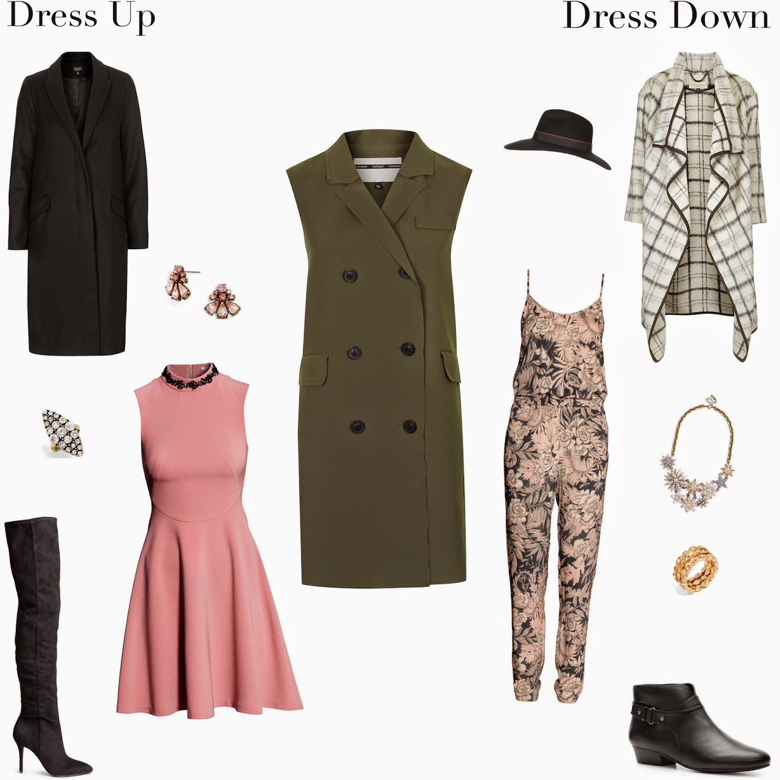 Edie's Closet; Topshop Vest Dress Up and Dress Down