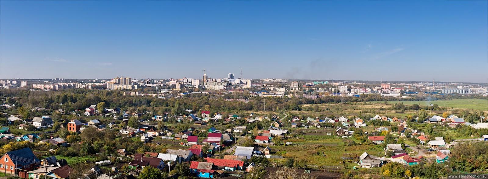Панорама Саранска, вид с Химмаша. Центр и Посоп.