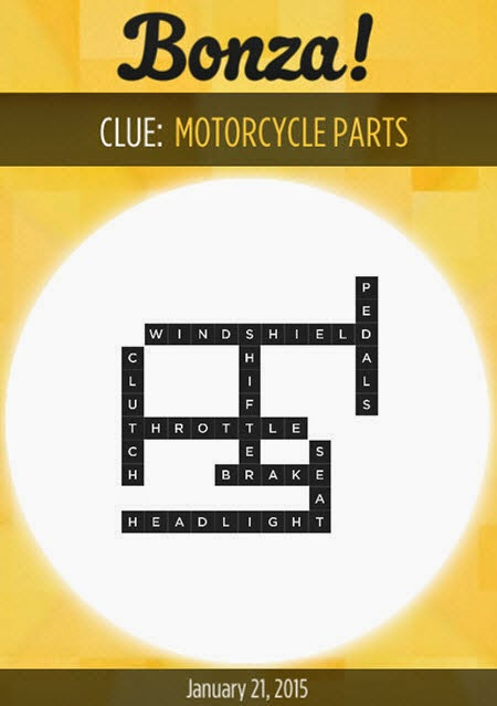 Bonza Daily Word Puzzle Answers January 21, 2015