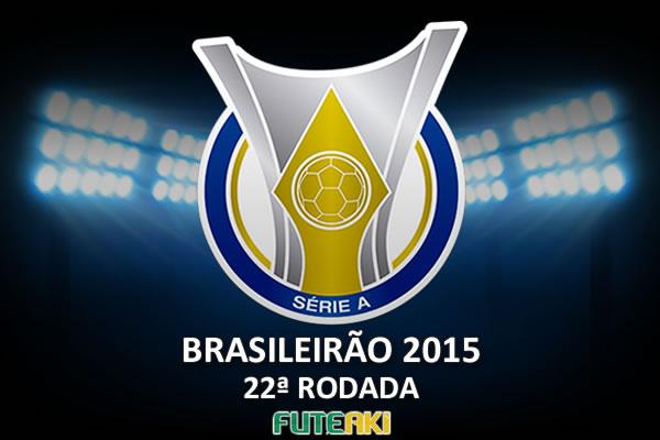 Veja o resumo da 22ª rodada do Brasileirão 2015, com vídeos dos gols e melhores momentos de cada partida.