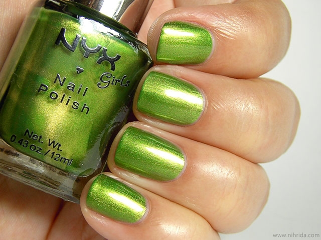 NYX Girls Nail Polish in Luscious Green