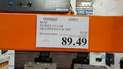 Bose Mobile in-ear audio headphones at Costco after rebate
