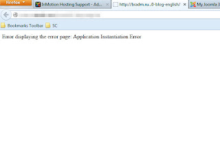 Fix Joomla! Problem - Error displaying the error page: Application Instantiation Error