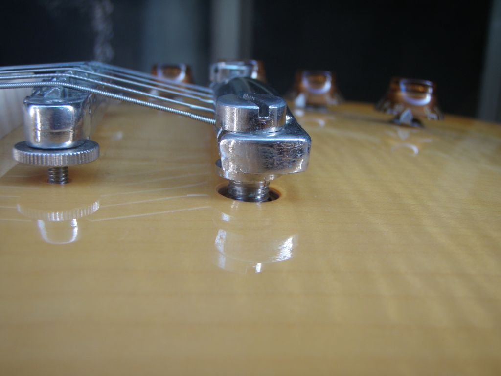 How To Set Up A Gibson Les Paul Style Guitar Diy Strat And Other Epiphone Wiring Diagram Http Wwwmylespaulcom Forums An Alternative Solution Raising The Tailpiece Is Pass Strings Through From Front Of Heading Towards Back