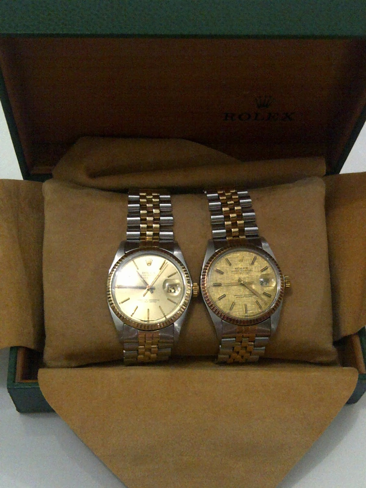 TWIN ROLEX DATE JUST VINTAGE TWO TONE SOLD