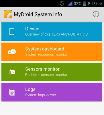 MyDroid System info