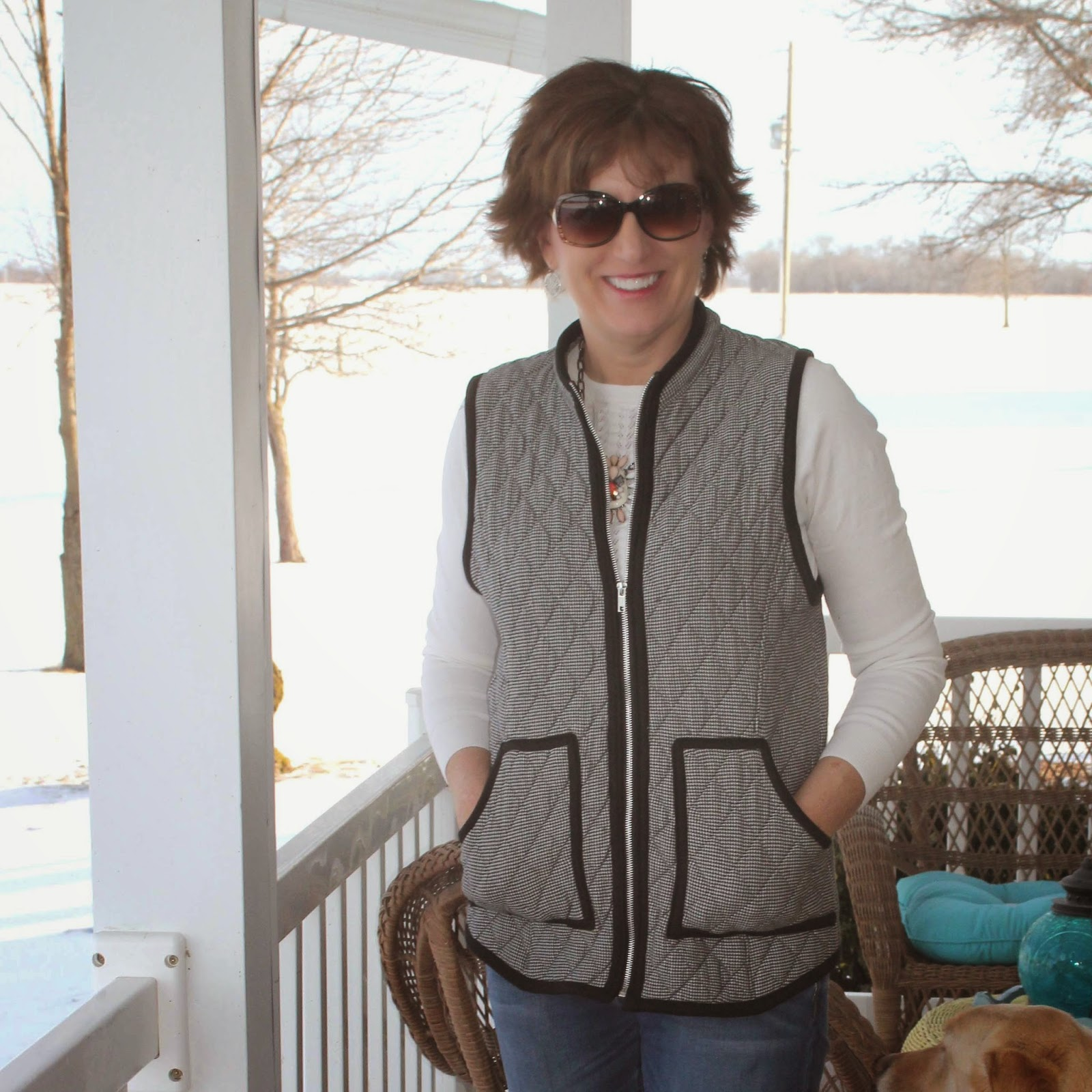 Simplicity 1499 quilted vest from Emma One Sock FAbric