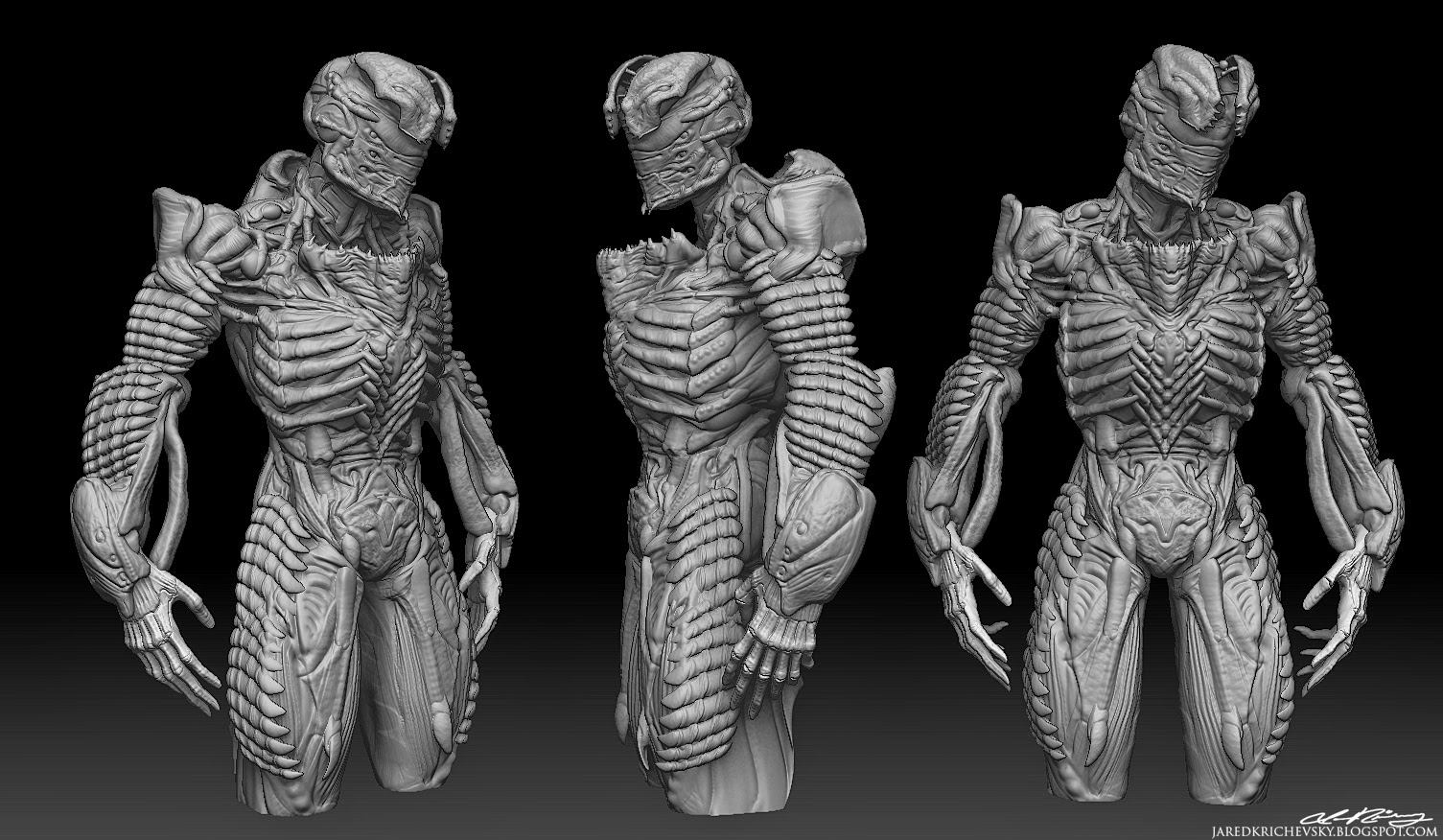 jared krichevsky  organic bio suit isaac from dead space done for the facebook group brainstorm