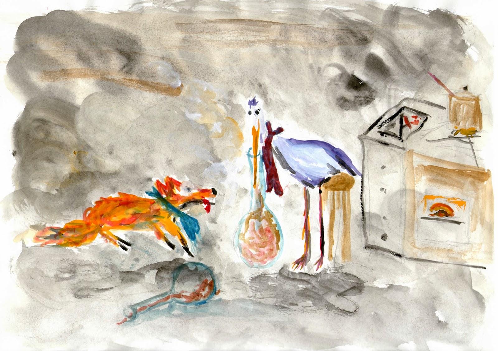Les dessins de margau d cembre 2013 - Dessin le renard et la cigogne ...