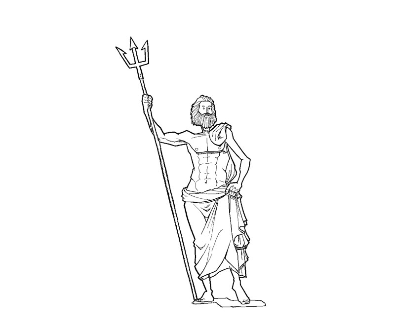 Poseidon Coloring Pages Coloring Pages Poseidon Coloring Pages