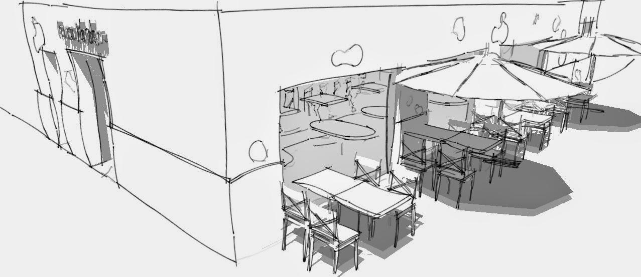 Dise o de interiores escuela de arte de motril trabajo el restaurante por marina rodr guez - Diseno de interiores trabajo ...