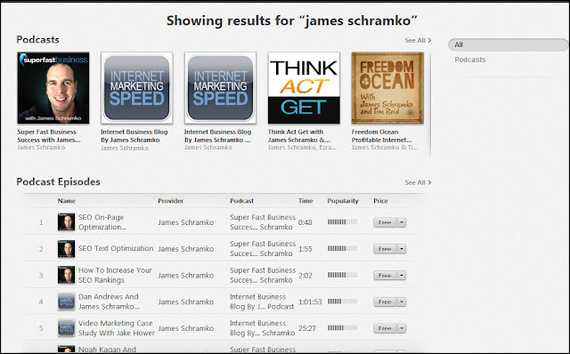 James Schramko on iTunes