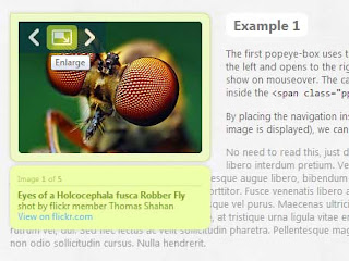 jQuery popeye - an inline lightbox alternative plugin with slideshow