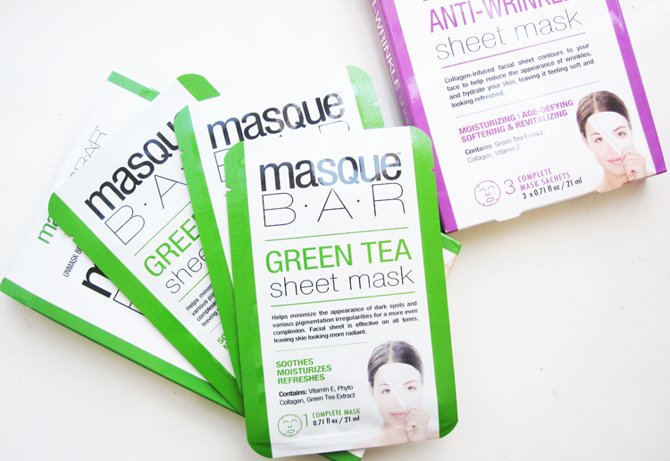 Masque Bar Green Tea and Anti Wrinkle Sheet Masks review