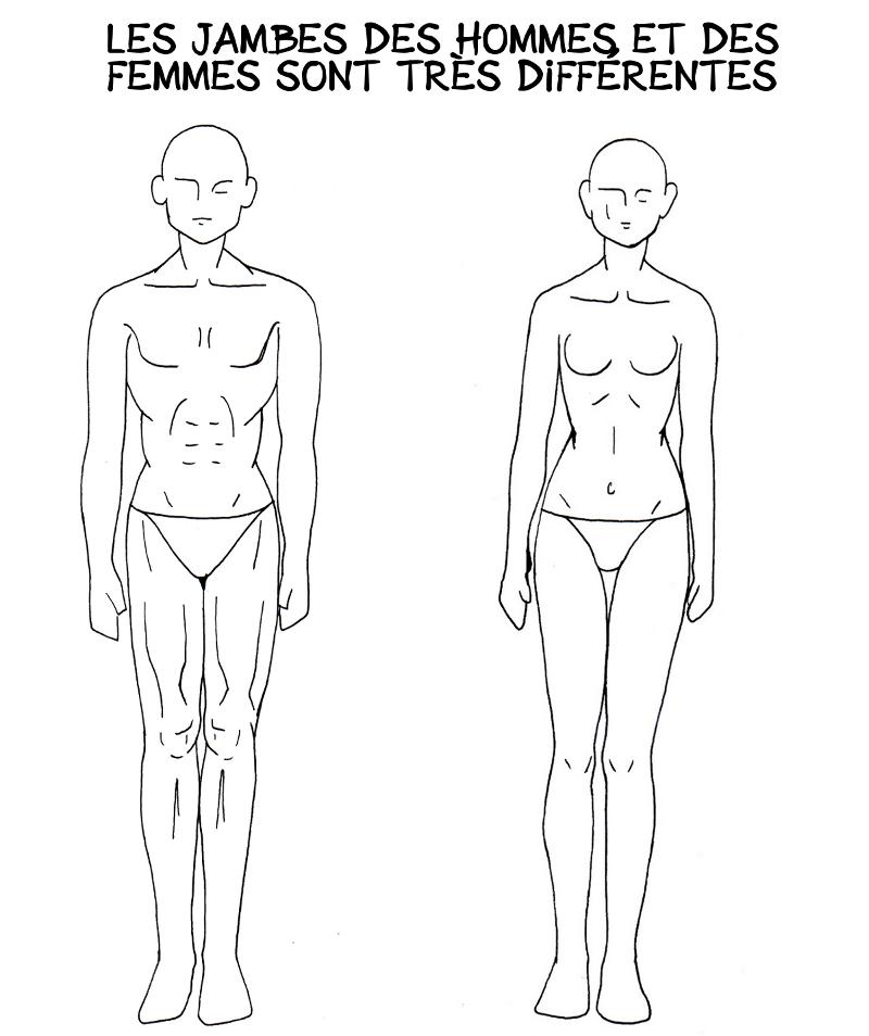 comment dessiner des jambes de fille