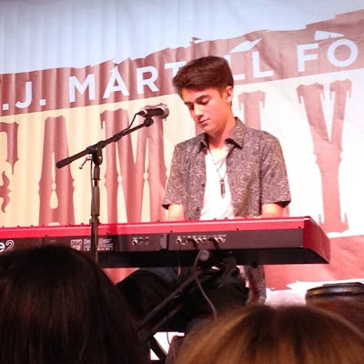 Greyson Chance performing on stage in New York today