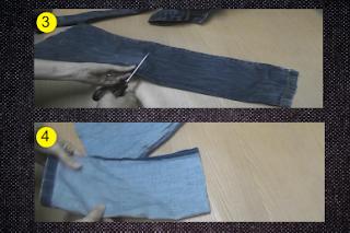 Cestas hechas con jeans viejos