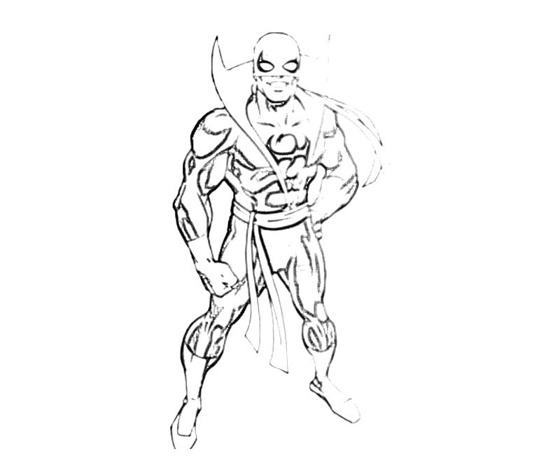 printable marvel vs capcom iron fist coloring_coloring pages