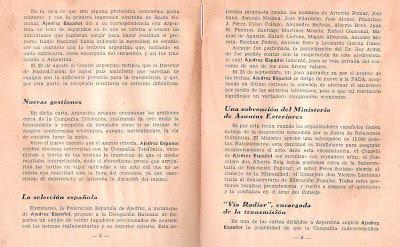 Páginas del libro de ajedrez de Julio Ganzo