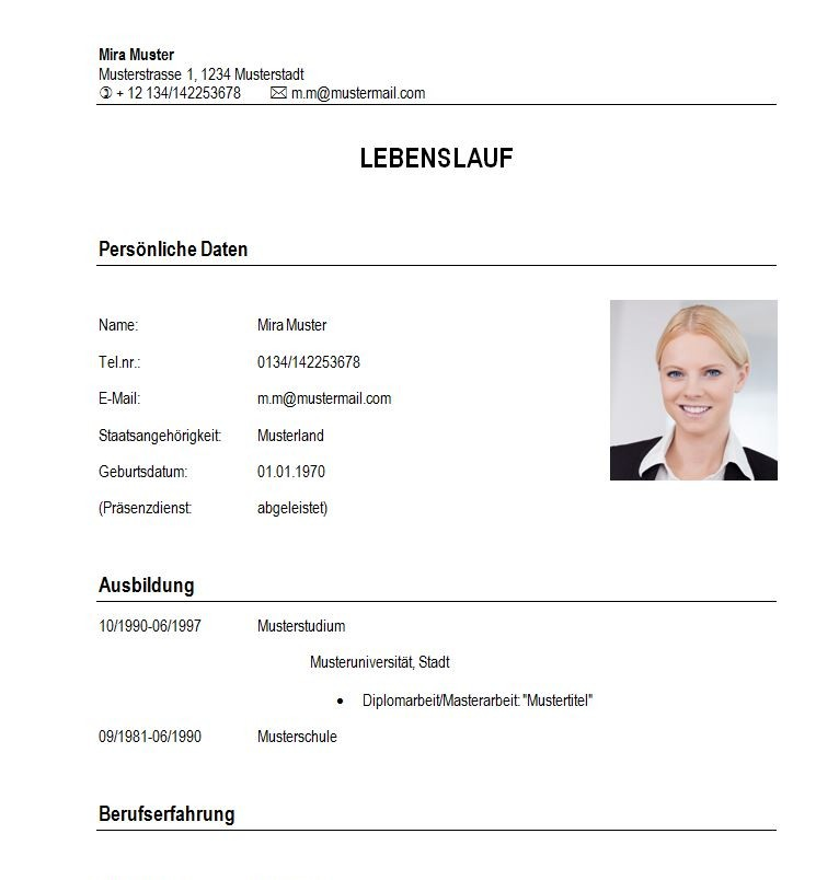 CV beispiel student ~ Dokument Blogs