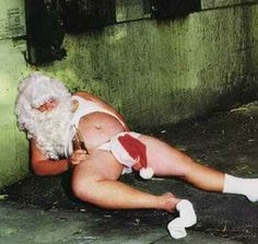 Come and sit on Santa's lap, little girl...