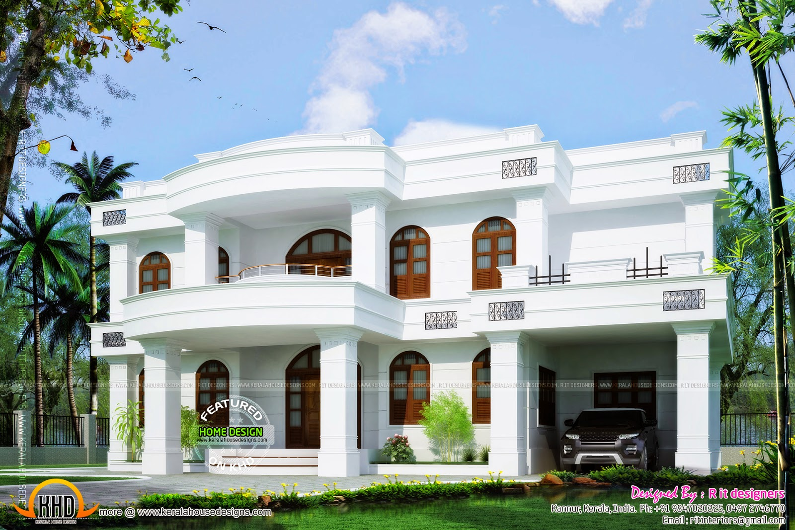 3037 square feet beautiful home kerala home design and for Beautiful home designs photos