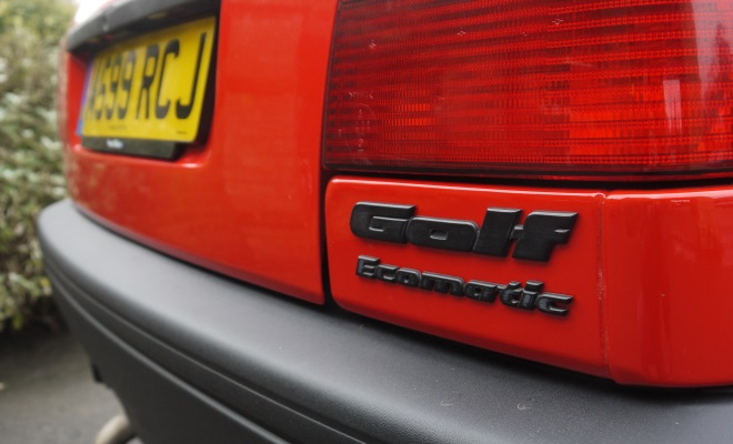 1994 VW Golf Ecomatic boot badge