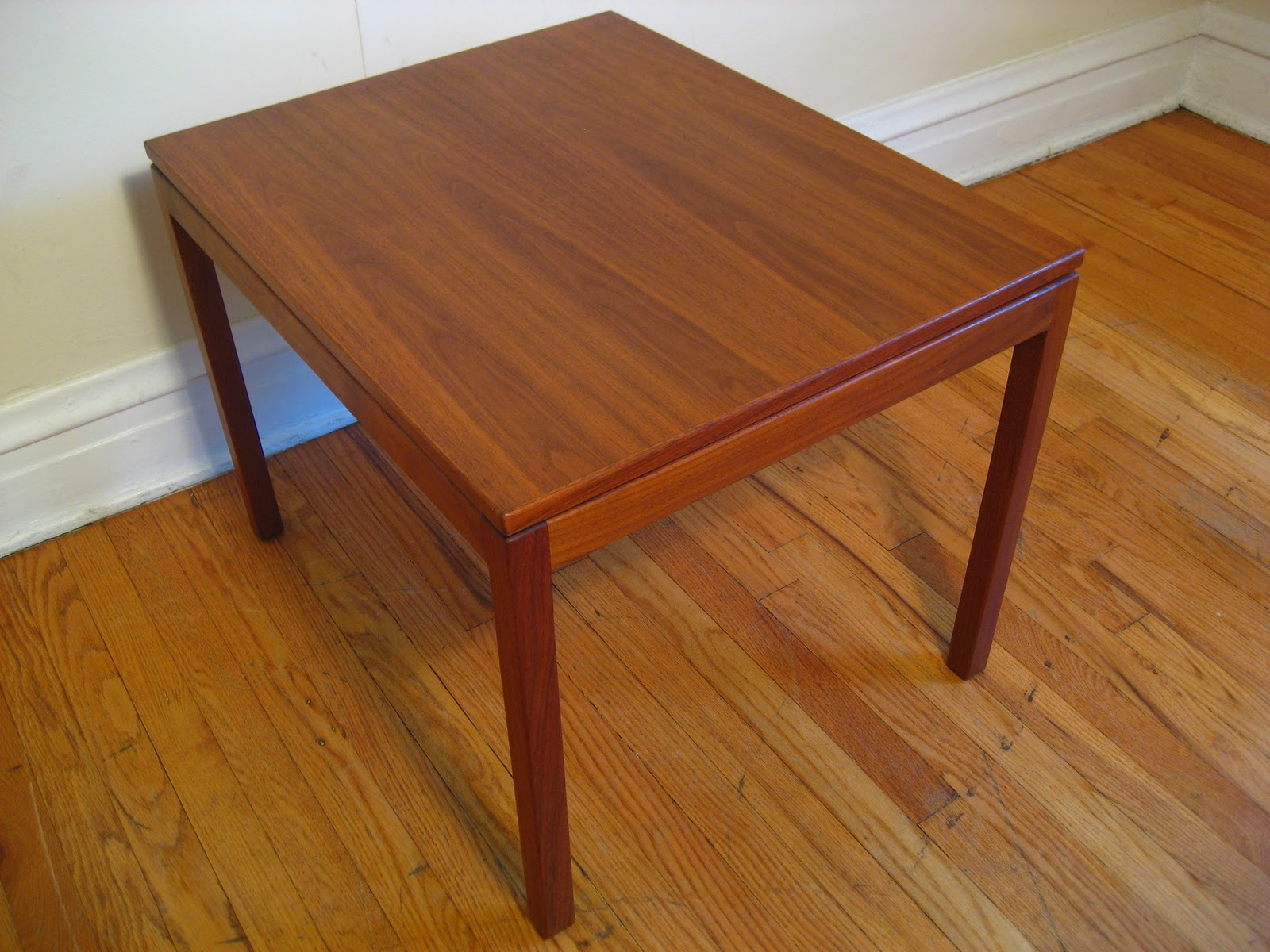 Flatout design jens risom occasional table jens risom design solid walnut occasional table signed with decal manufacturers label to underside excellent condition no issues geotapseo Choice Image