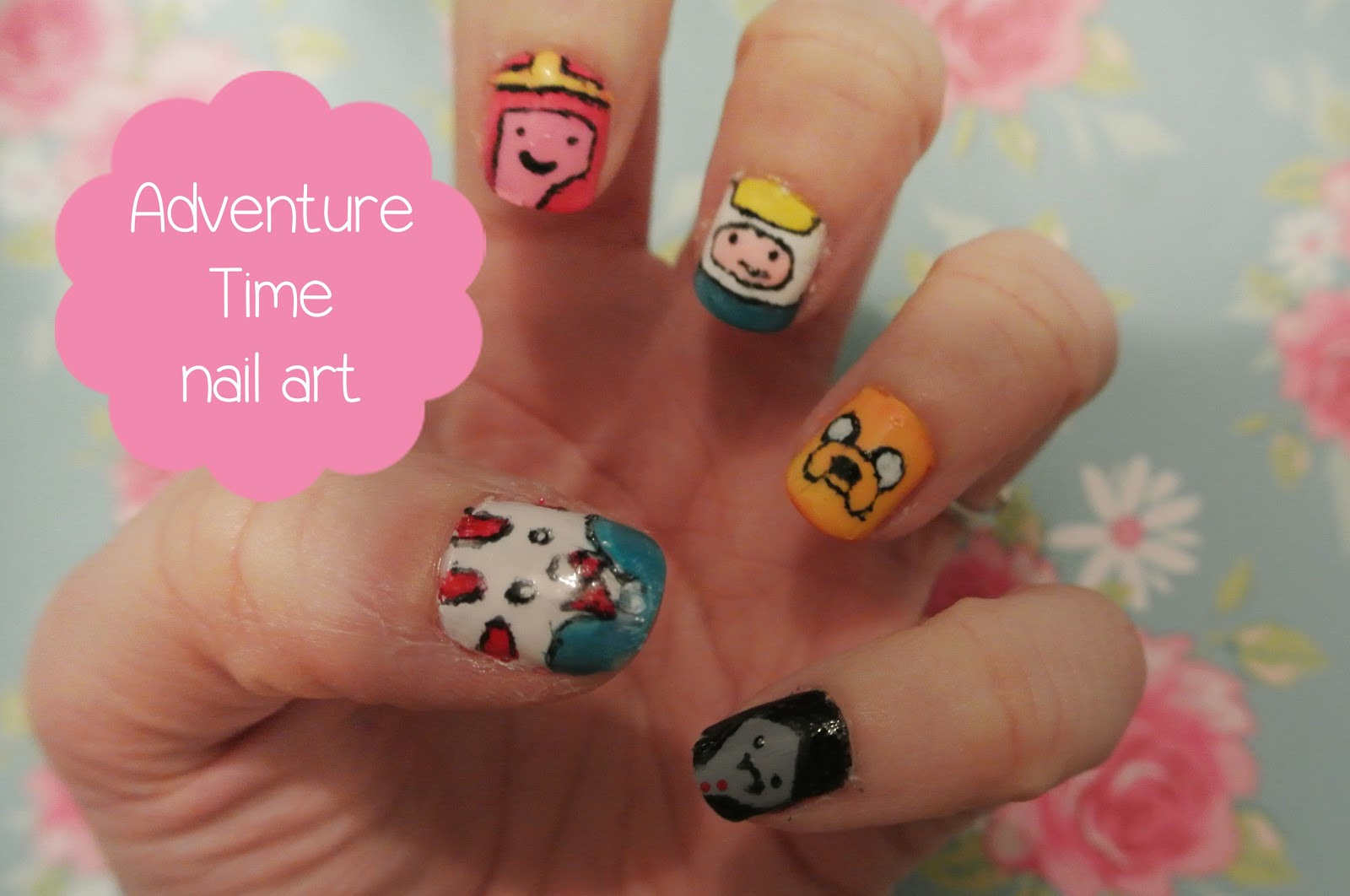 Glittery Teacups: sunday nails #28 - adventure time!