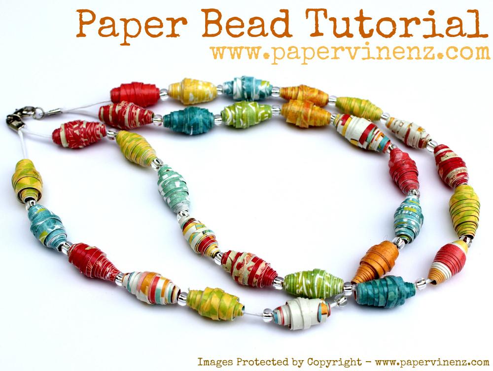 Paper Bead Tutorial Summer Fun Papervine