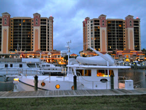 YA on the 'lay-alng' at Cape Harbour, Ft. Myers, FL