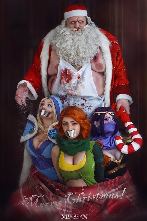 Dota 2 Christmas Cosplay