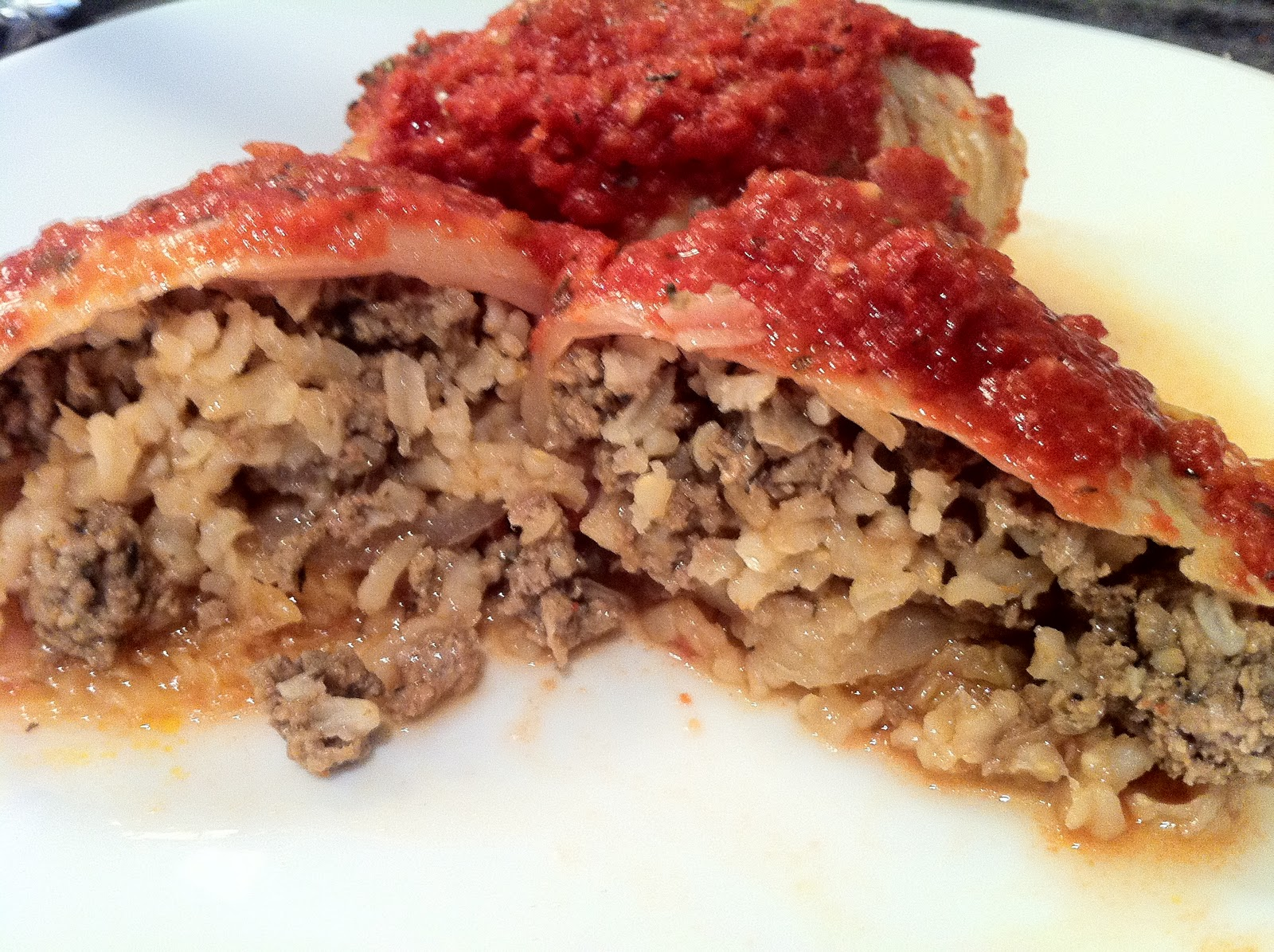 Recipes from 4EveryKitchen: Holishkes - Meat Stuffed Cabbage Rolls