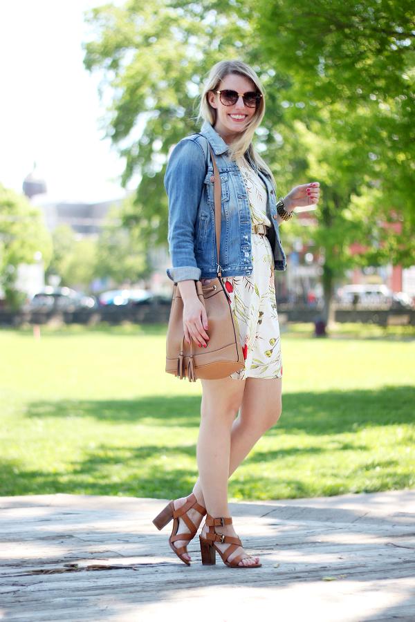 Zara Sandals, Old Navy Bucket Bag, Sunglasses Giveaway