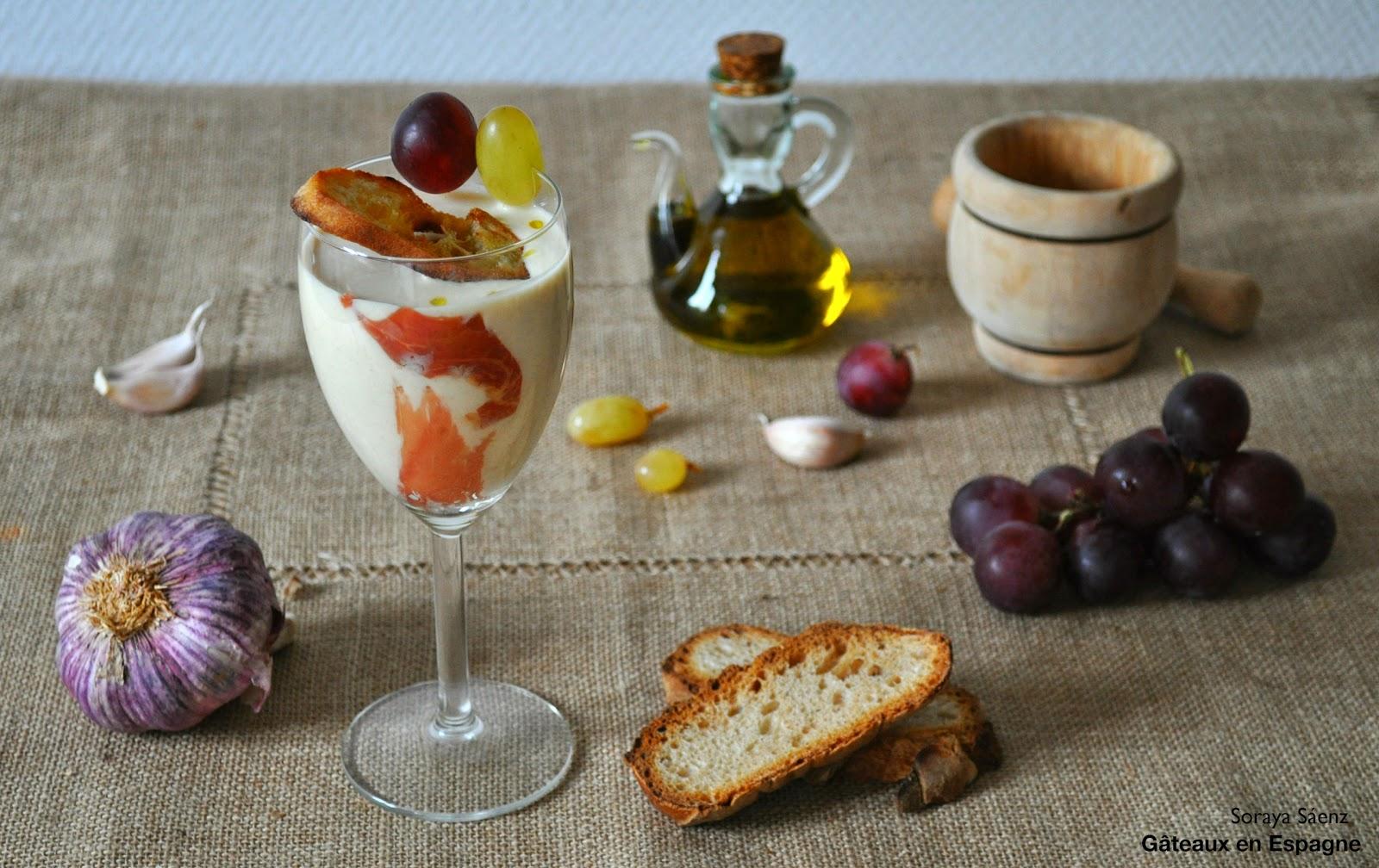 recette soupe froide amandes