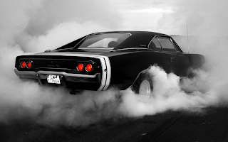 Dodge Charger in Smoke HD Wallpaper