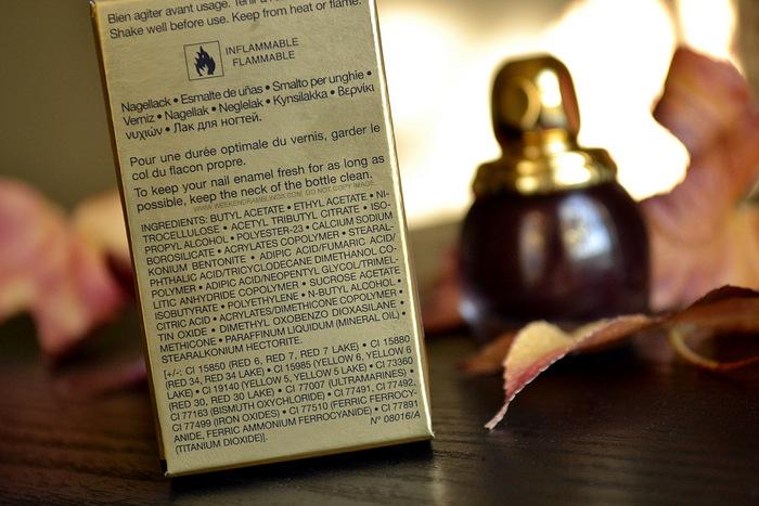 Diorific Nail Vernis Minuit 995 - Ingredients