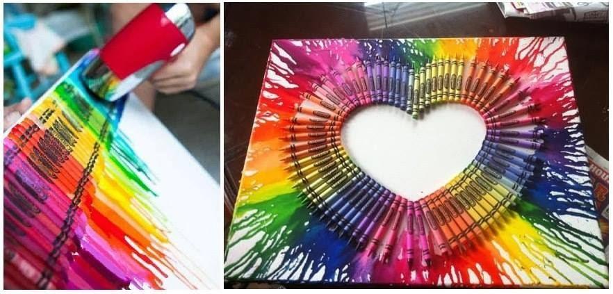 Boyal kalemlerle resim tablosu yap m eli i al malar for Como decorar tu cuarto tu misma