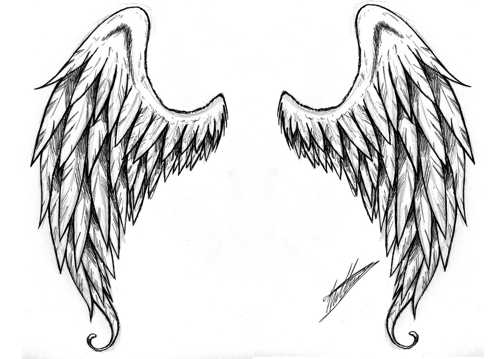 Angel and Demon Wing Tattoo Designs